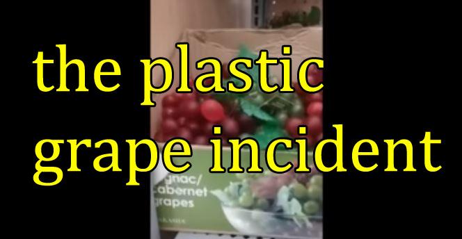 The Plastic Grape Incident